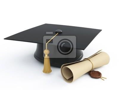 dyplom kasztana samodzielnie na białym tle
