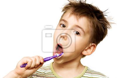 Dziecko szczotkowanie zębów