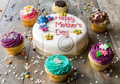 Fototapeta Dzień Matki babeczki i ciastka