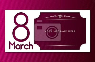 Dzień wektorowa damska 08 marca w tle