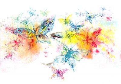 Fototapeta dziewczyna i motyle