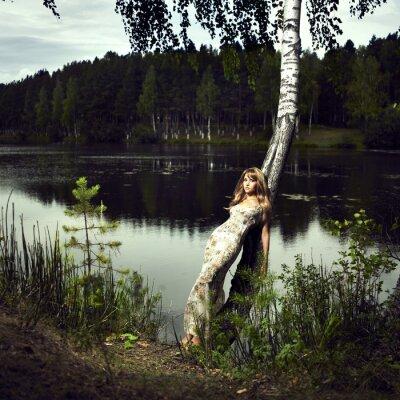 Fototapeta Dziewczyna i rzeki