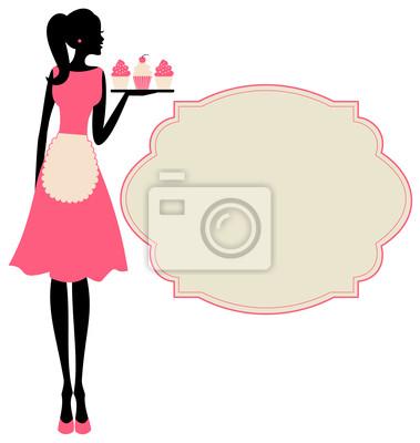 Fototapeta Dziewczyna retro Cupcake