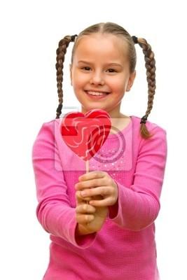 Dziewczyna z lizakiem.