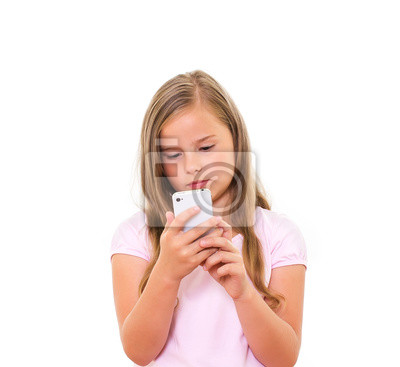 Dziewczyna z telefonu komórkowego.