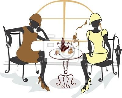 Dziewczyny w kawiarni