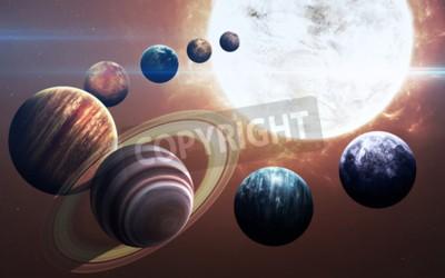 Fototapeta Dziewiąta planeta układu słonecznego otwarty. Nowy gazowy gigant
