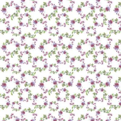 Dziki kwiat chryzantemy wieniec wzór w stylu akwareli. Pełna nazwa tego zioła: chryzantema, dalia. Aquarelle kwiaty mogą być wykorzystane do tła, tekstury, wzór, ramki lub obramowanie.