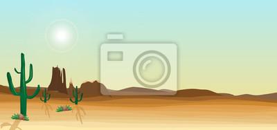 Dzikiej pustyni sceny z kaktusem