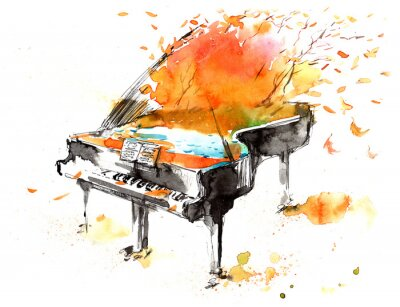 Fototapeta dźwięki fortepianu w filharmonii