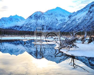 Fototapeta Eagle River Winter Bagno Beauty # 4.