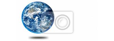 Fototapeta Earth on white background