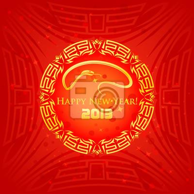 East Tło z symbolem Nowego Roku Węża