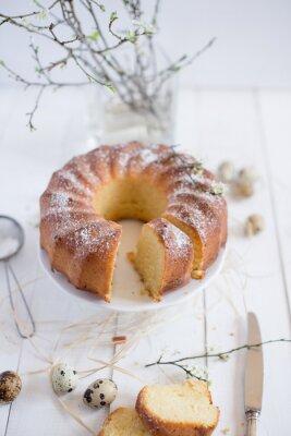 Fototapeta easter bundt cake