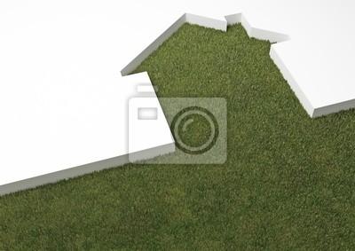 Fototapeta eco house