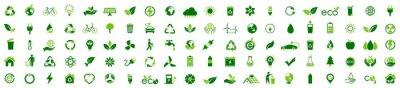 Fototapeta Ecology icon set. Ecofriendly icon, nature icons set on white background. Vector illustration