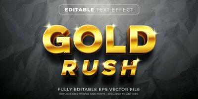 Fototapeta Editable text effect in elegant gold style