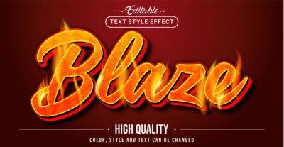 Fototapeta Editable text style effect - Blaze text style theme.