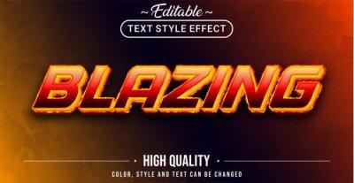 Fototapeta Editable text style effect - Blazing theme style.