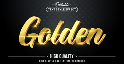Fototapeta Editable text style effect - Golden text style theme.