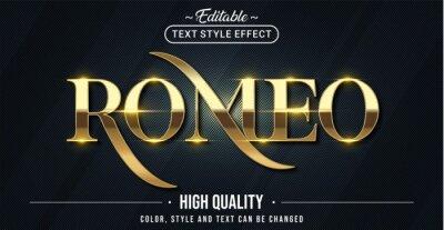 Fototapeta Editable text style effect - Romeo text style theme.