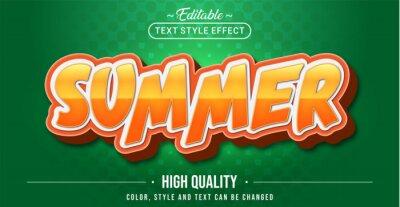 Fototapeta Editable text style effect - Summer text style theme.