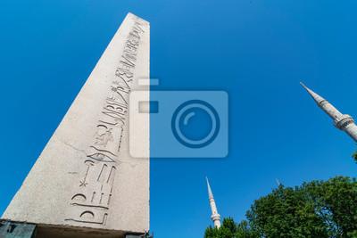 Egipski obelisk Teodozjusza w Stambule, Turcja.
