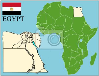 Fototapeta Egipt Afryka Godlo Mapa Swiata Tle Sukces Biznes Na