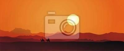 Fototapeta Egipt sunset
