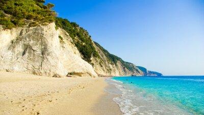 Fototapeta Egremni Beach, Lefkada Island, Ionion morze, Grecja