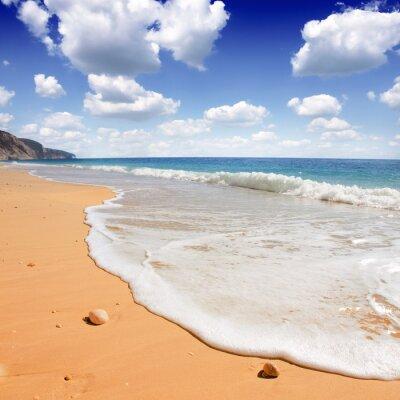 Fototapeta Egremni plaża w Lefkada, Jońskim morza, w Grecji
