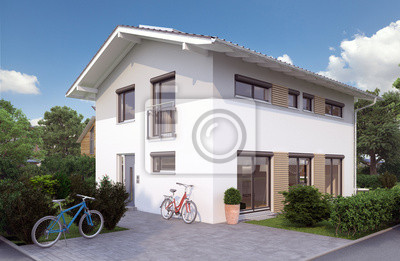 Fototapeta Einfamilienhaus w Deutschland