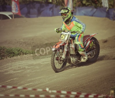 Fototapeta ekstremalne konkurs motocross w Bali