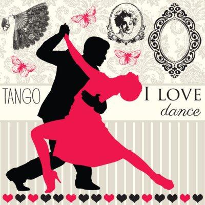 Fototapeta elegancja tango taniec wektor ilustrator