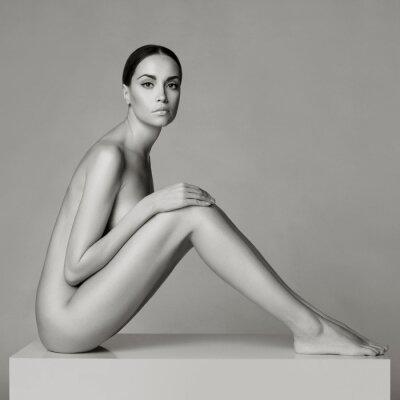 Fototapeta Elegancka dama siedzi