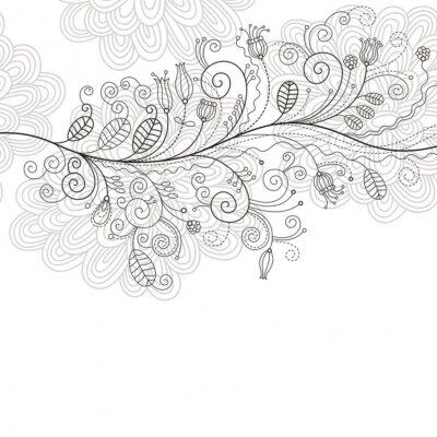 Fototapeta Elegancki kwiatowy ilustracja, kartkę z życzeniami