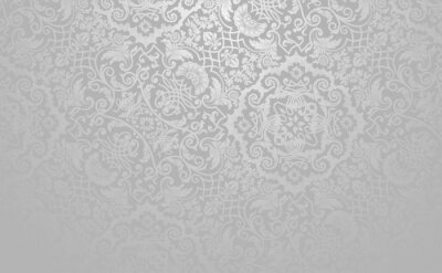 Fototapeta Elegancki kwiatowy tło wektor. Srebrny stonowanych zabytkowe dekoracyjne tekstury.