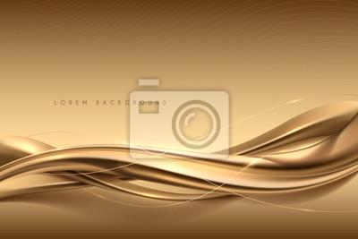 Fototapeta Elegant abstract gold silk background