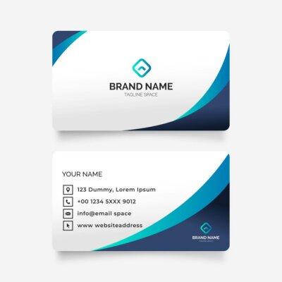 Fototapeta elegant abstract modern business card illustration design template blue colors