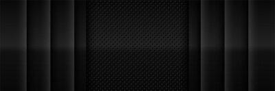 Fototapeta elegant black texture abstract modern futuristic background. Luxurious dark gray blank space design
