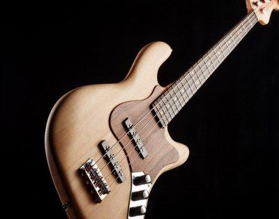 Fototapeta elektryczna gitara basowa na czarnym tle