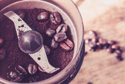 Fototapeta Elektryczny młynek do kawy