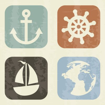 Fototapeta elementy morskich