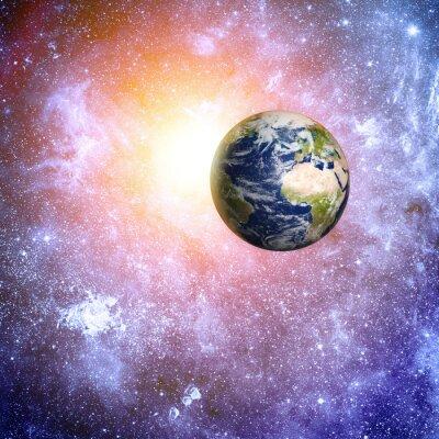 Fototapeta Elementy przestrzeni głębokie tło tego zdjęcia dostarczone przez NASA