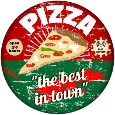 Fototapeta Emalia pizzy znak retro, wektor eps 10