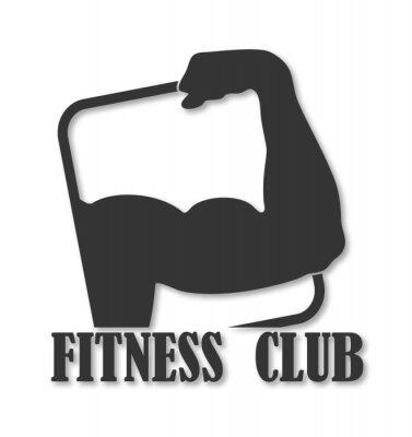 Fototapeta emblemat na klubie fitness