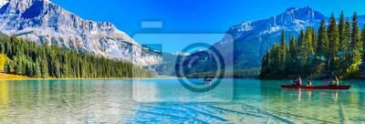 Fototapeta Emerald Lake,Yoho National Park in Canada,banner size