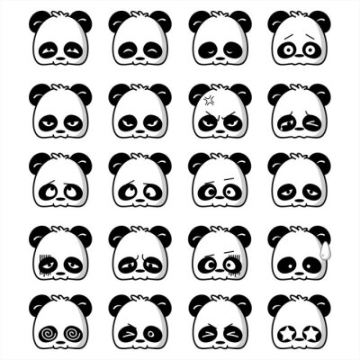 Fototapeta Emoticon Panda
