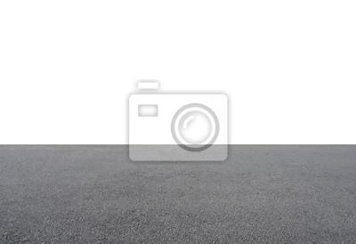 Fototapeta Empty asphalt floor isolated on white background