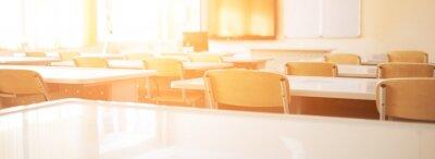 Fototapeta Empty school class during school holidays, back to school, children education